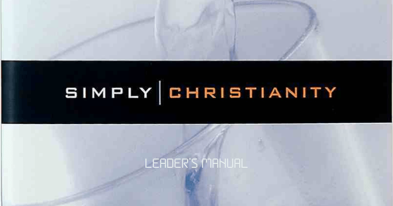 Simply Christianity - Leader's Manual